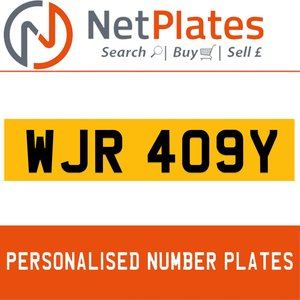 1900 WJR 409Y PERSONALISED PRIVATE CHERISHED DVLA NUMBER PLATE For Sale