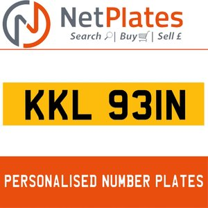 KKL 931N PERSONALISED PRIVATE CHERISHED DVLA NUMBER PLATE