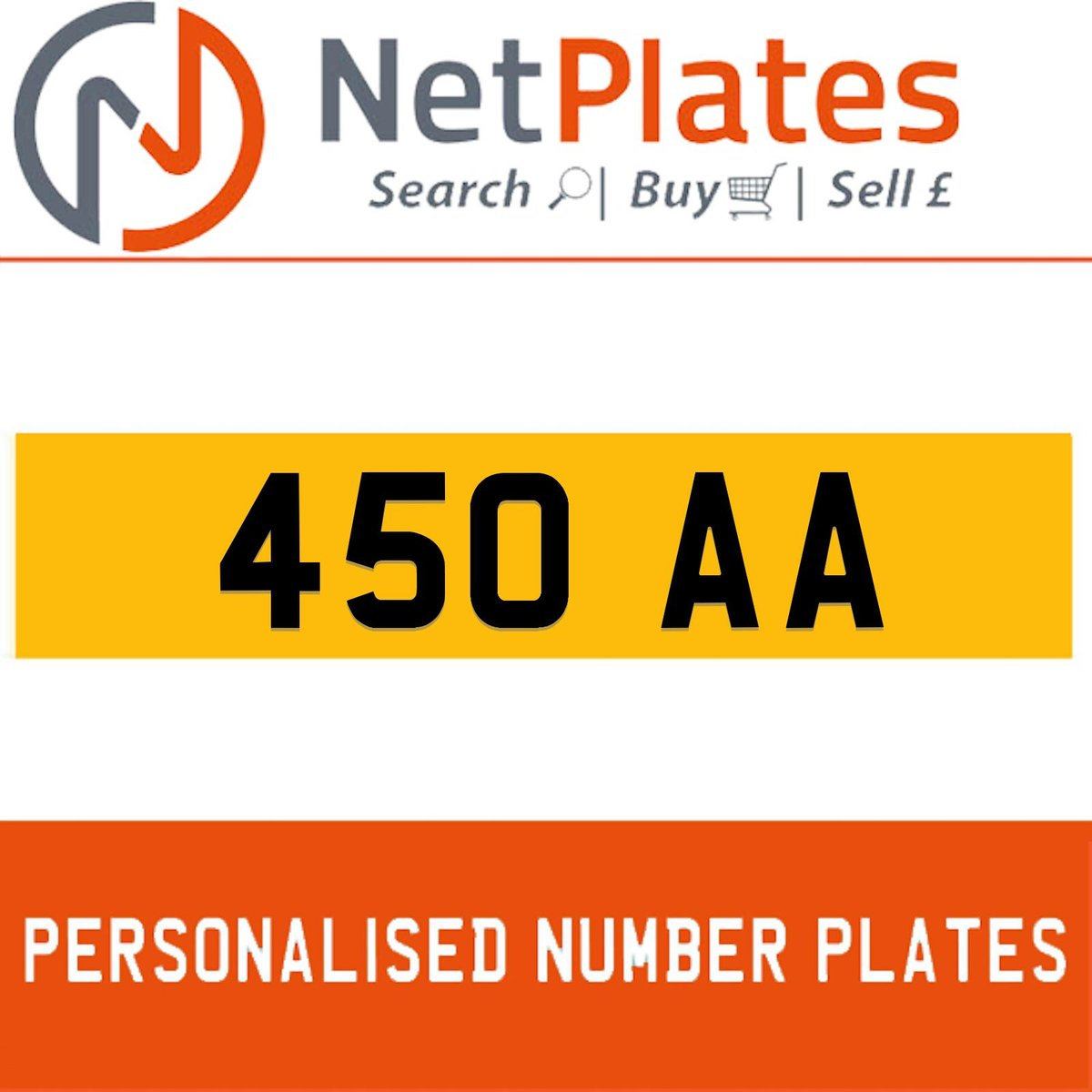 1900 450 AA PERSONALISED PRIVATE CHERISHED DVLA NUMBER PLATE For Sale (picture 1 of 5)