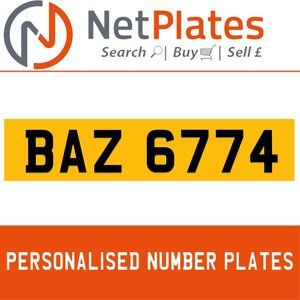1900 BAZ 6774 PERSONALISED PRIVATE CHERISHED DVLA NUMBER PLATE For Sale