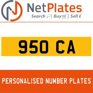 1900 950 CA PERSONALISED PRIVATE CHERISHED DVLA NUMBER PLATE For Sale