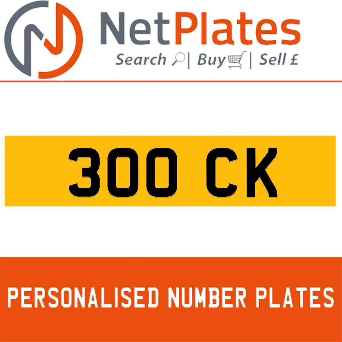 1900 300 CK PERSONALISED PRIVATE CHERISHED DVLA NUMBER PLATE For Sale (picture 1 of 5)