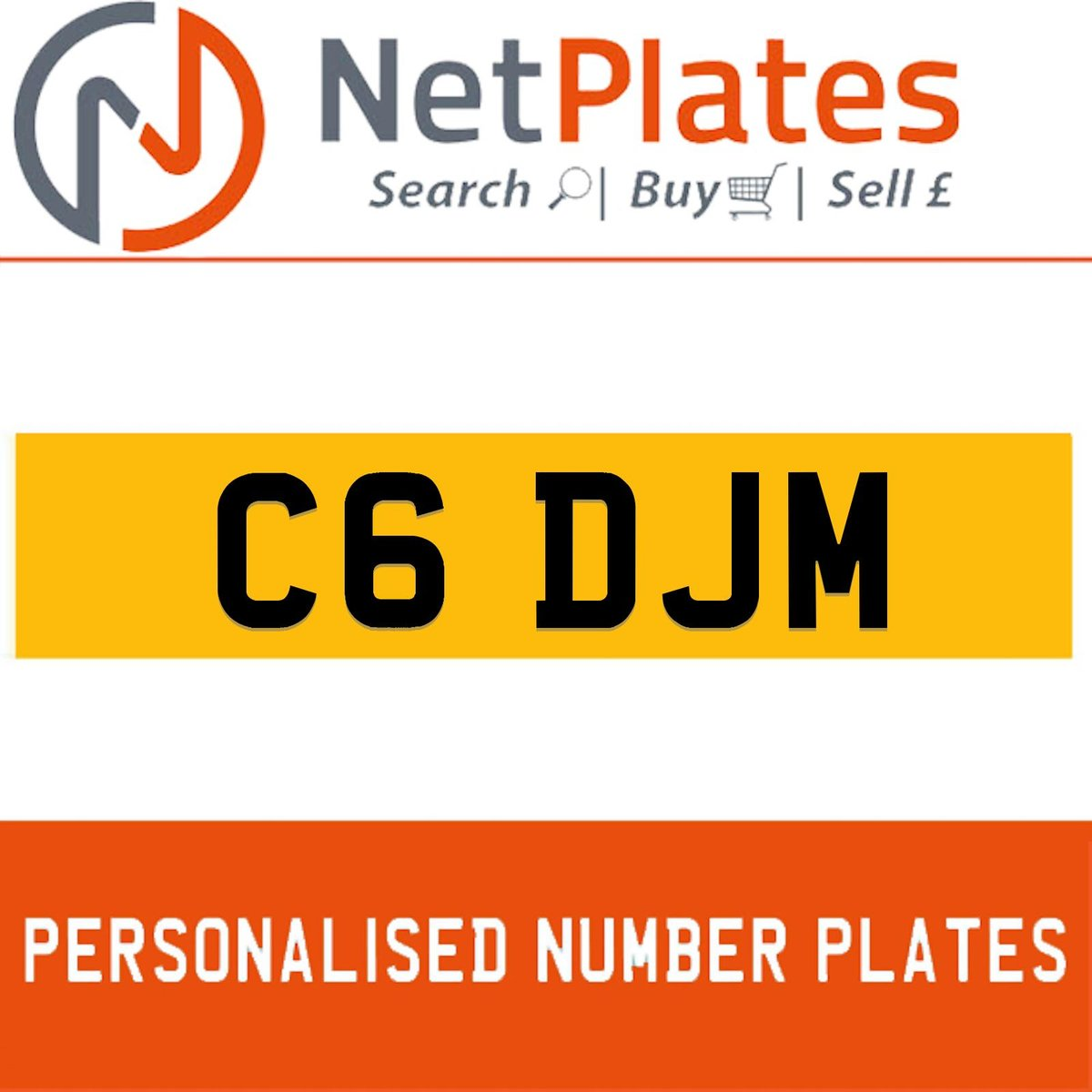 1900 C6 DJM PERSONALISED PRIVATE CHERISHED DVLA NUMBER PLATE For Sale (picture 1 of 5)