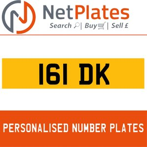 161 DK PERSONALISED PRIVATE CHERISHED DVLA NUMBER PLATE
