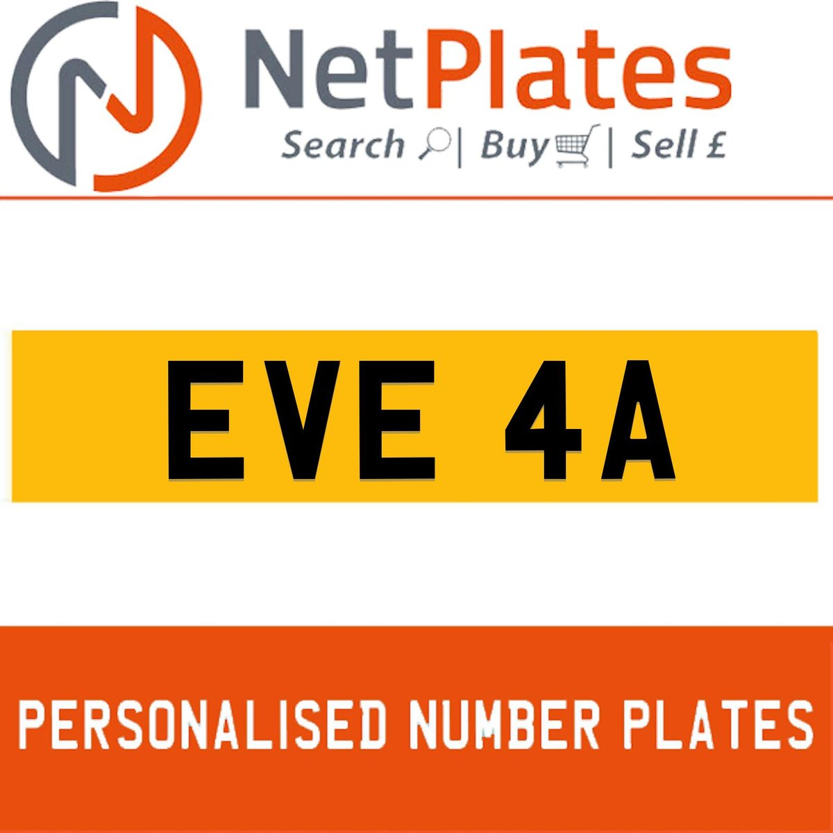 1900 EVE 4A PERSONALISED PRIVATE CHERISHED DVLA NUMBER PLATE For Sale (picture 1 of 5)