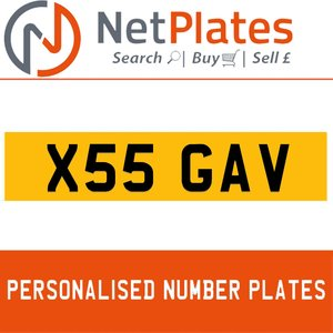 1900 X55 GAV PERSONALISED PRIVATE CHERISHED DVLA NUMBER PLATE For Sale