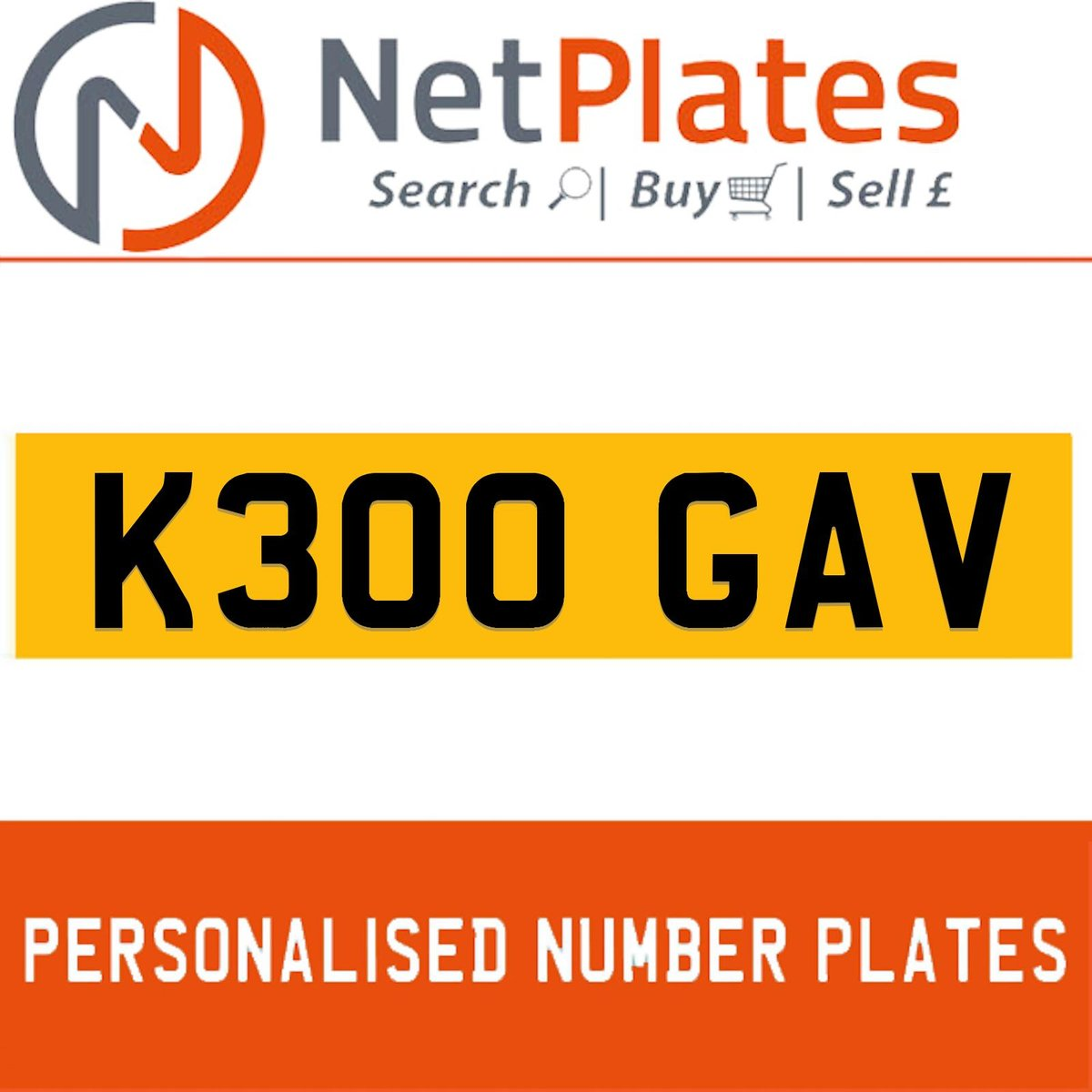 1900 K300 GAV PERSONALISED PRIVATE CHERISHED DVLA NUMBER PLATE For Sale (picture 1 of 5)