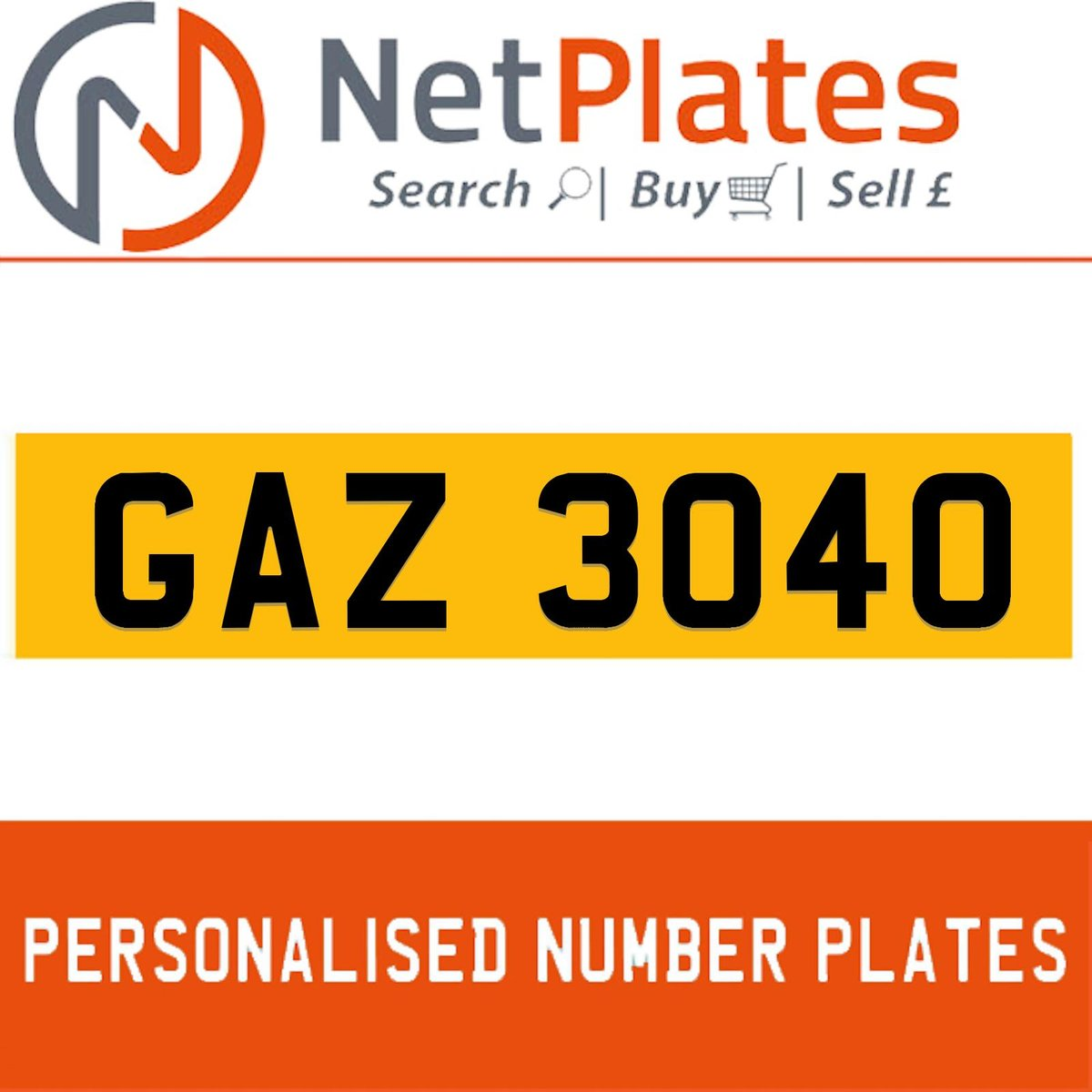 1900 GAZ 3040 PERSONALISED PRIVATE CHERISHED DVLA NUMBER PLATE For Sale (picture 1 of 5)