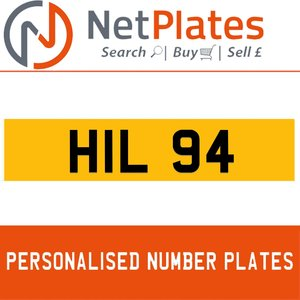 1900 HIL 94 PERSONALISED PRIVATE CHERISHED DVLA NUMBER PLATE For Sale