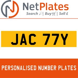1900 JAC 77Y PERSONALISED PRIVATE CHERISHED DVLA NUMBER PLATE For Sale