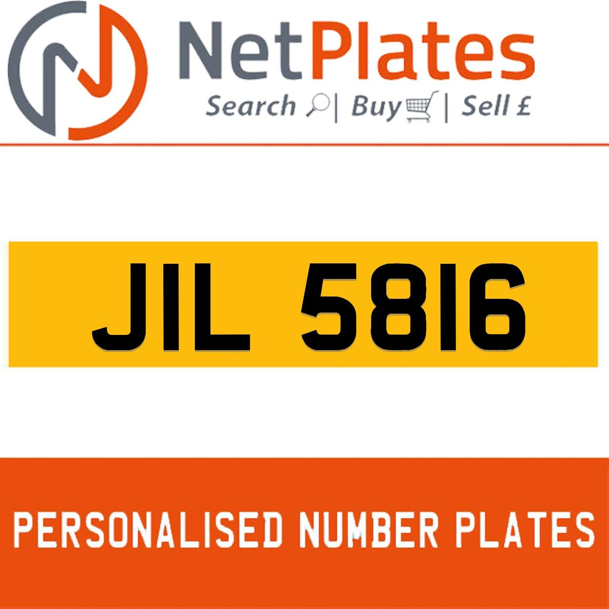 1900 JIL 5816 PERSONALISED PRIVATE CHERISHED DVLA NUMBER PLATE For Sale (picture 1 of 5)