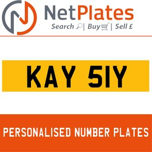 1900 KAY 51Y PERSONALISED PRIVATE CHERISHED DVLA NUMBER PLATE For Sale