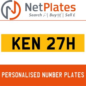 1900 KEN 27H PERSONALISED PRIVATE CHERISHED DVLA NUMBER PLATE For Sale