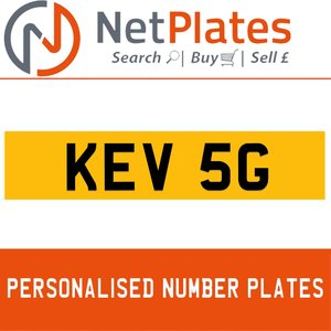 1900 KEV 5G PERSONALISED PRIVATE CHERISHED DVLA NUMBER PLATE For Sale