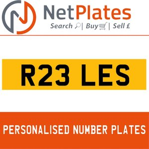 1900 R23 LES PERSONALISED PRIVATE CHERISHED DVLA NUMBER PLATE For Sale