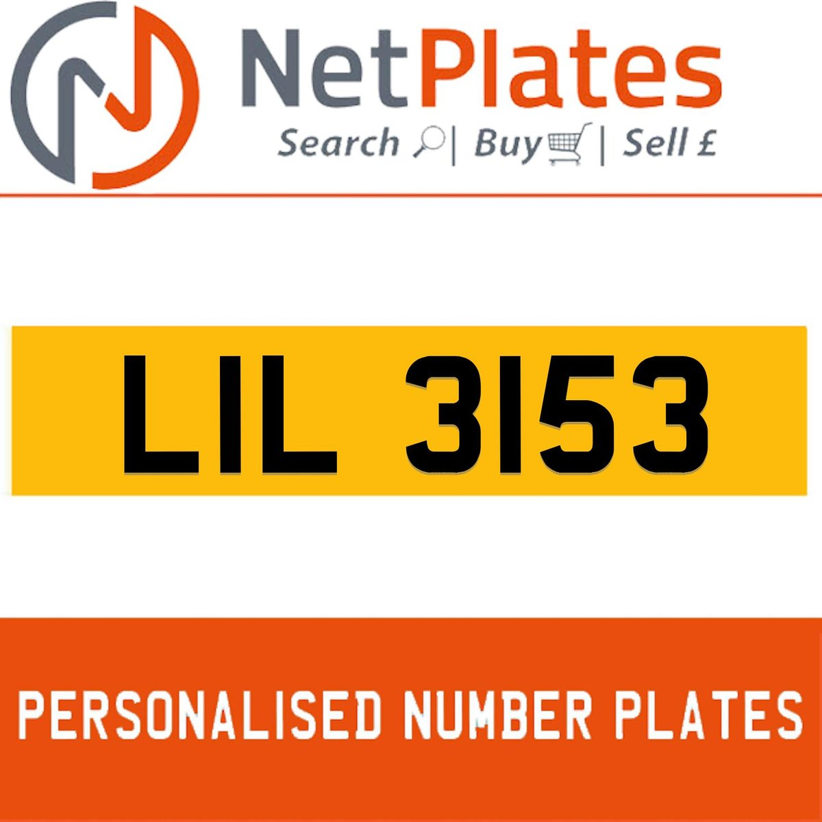 1900 LIL 3153 PERSONALISED PRIVATE CHERISHED DVLA NUMBER PLATE For Sale (picture 1 of 5)