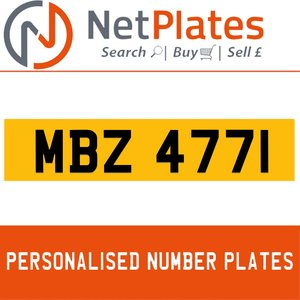1900 MBZ 4771 PERSONALISED PRIVATE CHERISHED DVLA NUMBER PLATE For Sale