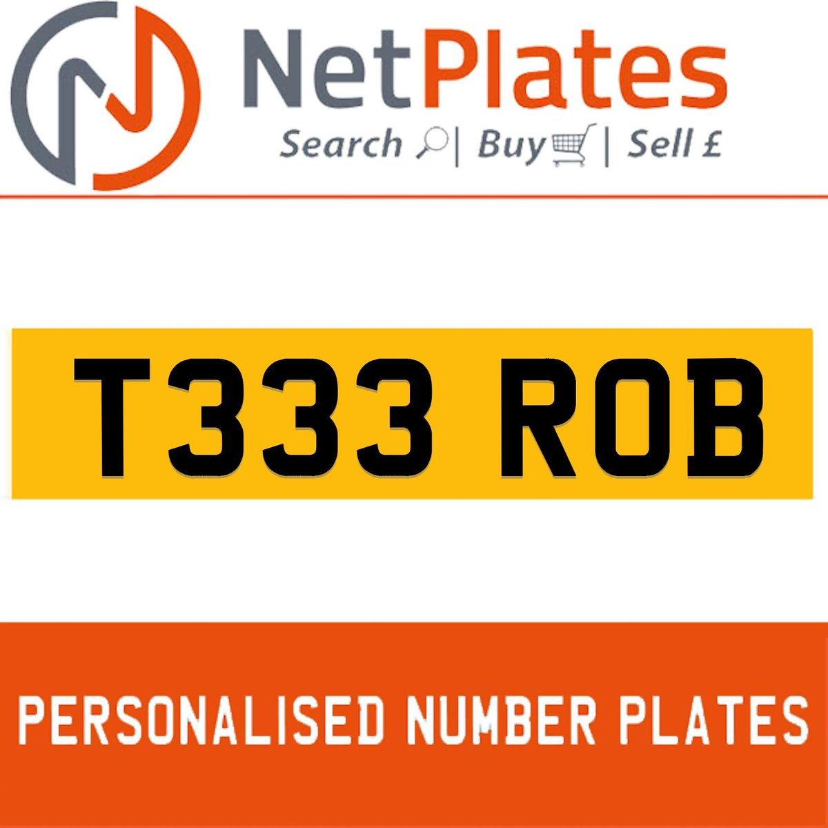 1900 T333 ROB PERSONALISED PRIVATE CHERISHED DVLA NUMBER PLATE For Sale (picture 1 of 5)