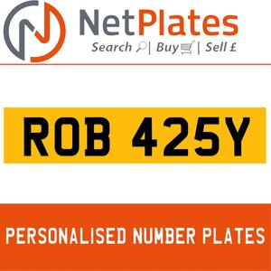 1900 ROB 425Y PERSONALISED PRIVATE CHERISHED DVLA NUMBER PLATE For Sale