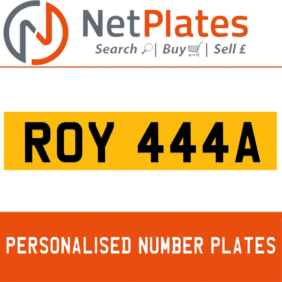 1900 ROY 444A PERSONALISED PRIVATE CHERISHED DVLA NUMBER PLATE For Sale (picture 1 of 5)