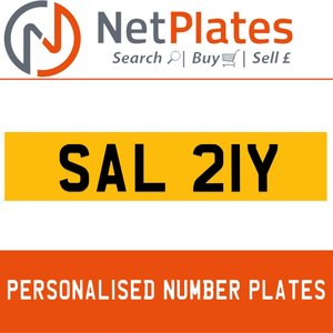 SAL 21Y PERSONALISED PRIVATE CHERISHED DVLA NUMBER PLATE