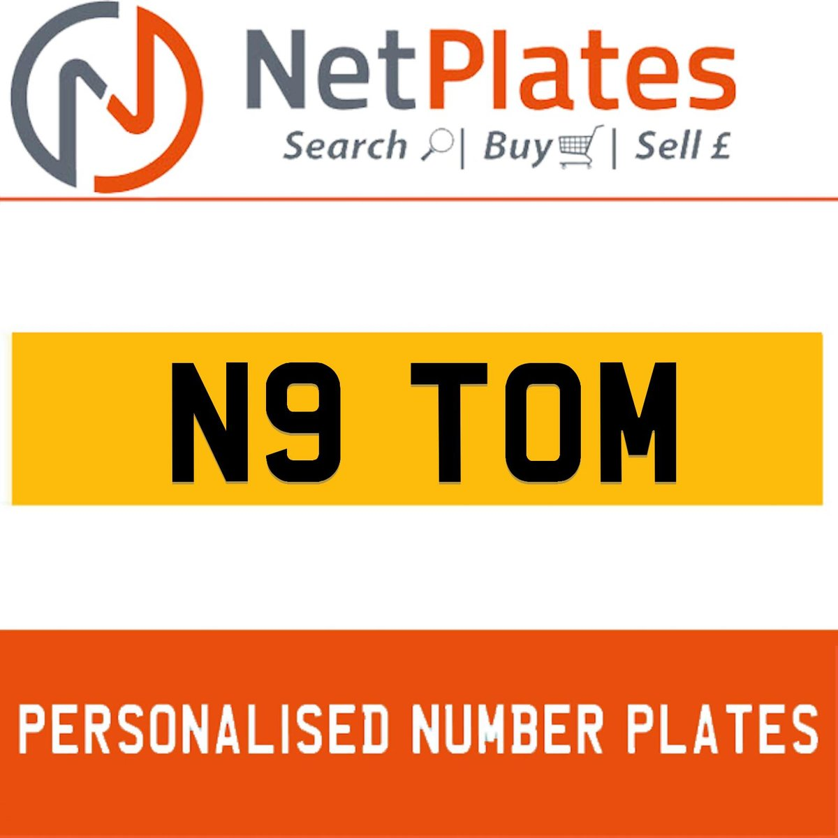 1900 N9 TOM PERSONALISED PRIVATE CHERISHED DVLA NUMBER PLATE For Sale (picture 1 of 5)