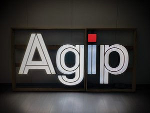 AGIP Illuminated Dealership Sign, ca. 1970s For Sale by Auction
