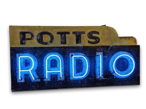 Potts Radio Double-Sided Neon Sign