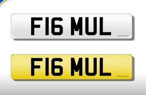 'F16 MUL' Cherished Registration Number