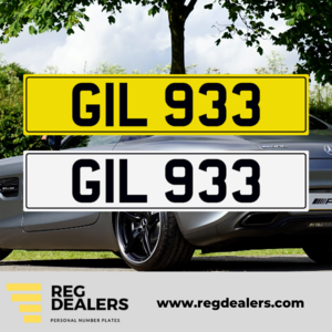 GIL 933 Number Plate