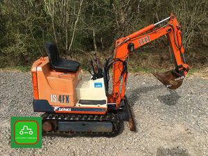 1995 IHI 1/2 TON MINI MICRO DIGGER ALL WORKS LOW HOURS SEE VIDEO SOLD