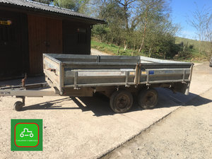 2000 BARGAIN 10X6 DROP SIDE TRAILER TO CLEAR ALL WORKS NO VAT SOLD