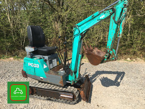 1996 KOMATSU PC03 MICRO DIGGER ALL WORKS SEE VIDEO CAN DELIVER SOLD