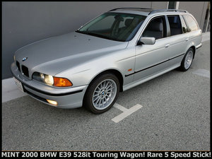 2000 BMW 5-Series 528it Touring Wagon Rare 5 Speed $7.9k For Sale