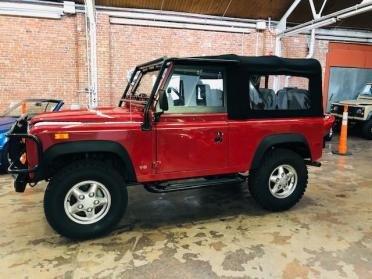 1993 Land Rover Defender 90 LHD 3.9 Liter Red(~)Grey $79.9k
