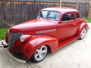 1939 Chevrolet Coupe All Custom mods 350 auto Red $39.5k For Sale