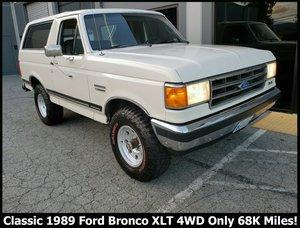 1989 Ford Bronco XLT SUV 4x4 clean OJ Ivory(~)Grey $obo
