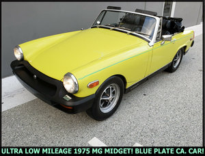 1975 MG Midget Roadster Convertible Clean Yellow Driver $7.k For Sale