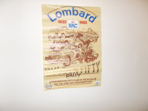 VINTAGE RAC  LOMBARD RALLY 1932 - 1982 GOLDEN FIFTY POSTER