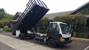 2005 Isuzu NPR Diesel 18 Foot Flatbed Dumper Auto $16.5k