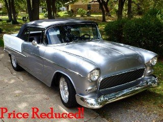 1955 Chevrolet Bel Air Convertible Custom Ram Jet 350 $92.5k