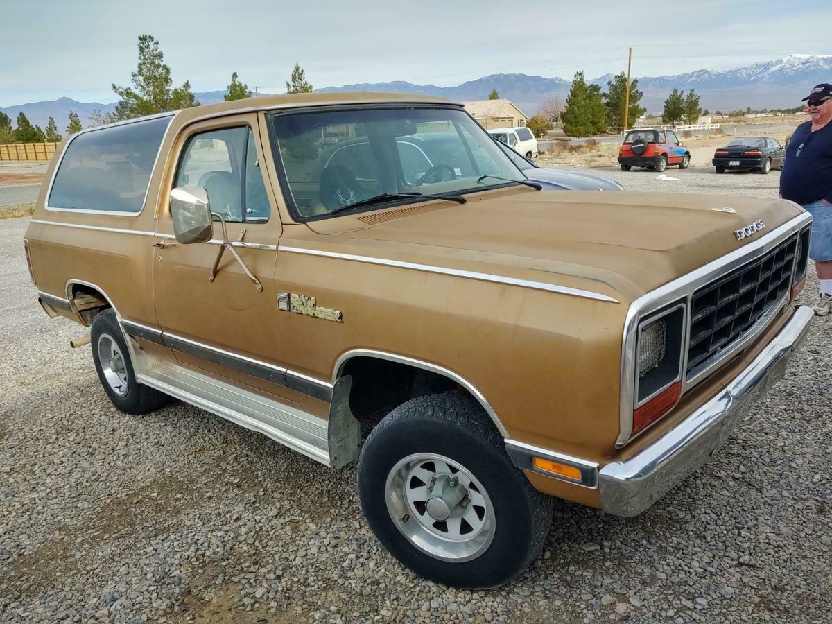 1985 Dodge Ram Charger 5.2 V8 4X4 SUV cold AC Gold $5.9k For Sale (picture 1 of 6)