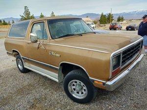 1985  Dodge Ram Charger 5.2 V8 4X4 SUV cold AC Gold $5.9k
