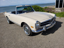 Picture of 1968 Mercedes 250SL Roadster Convertible Pagoda Ivory Manual $62 For Sale