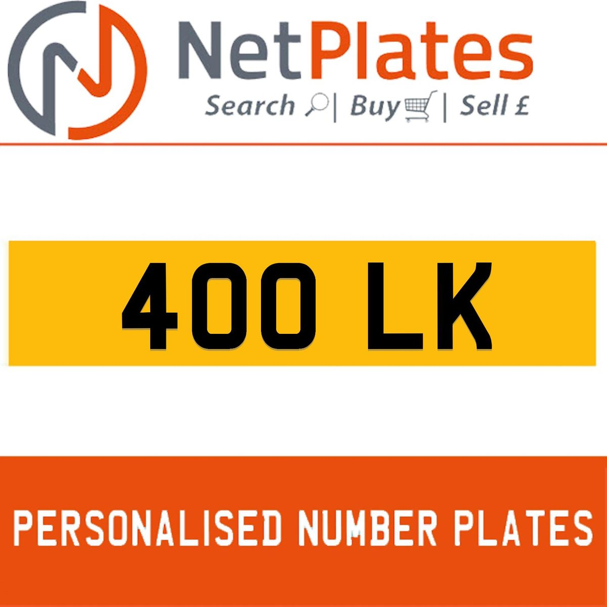 1900 400 LK PERSONALISED PRIVATE CHERISHED DVLA NUMBER PLATE For Sale (picture 1 of 5)
