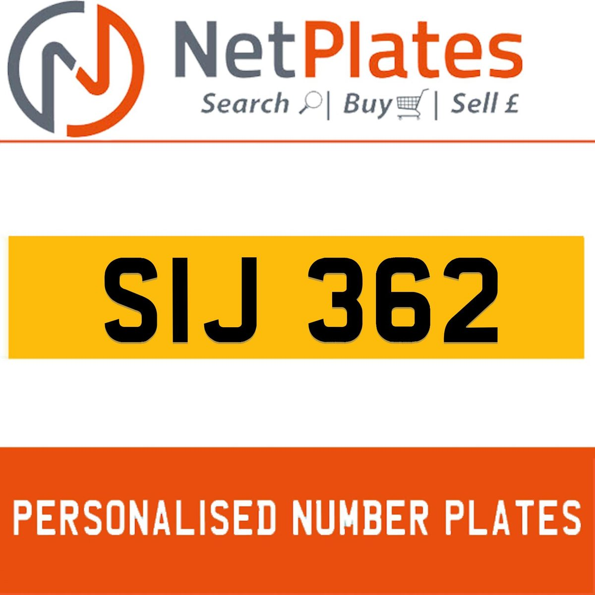 1900 SIJ 362 PERSONALISED PRIVATE CHERISHED DVLA NUMBER PLATE For Sale (picture 1 of 5)