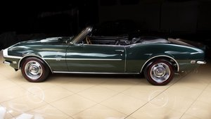 Picture of 1968 Chevrolet Camaro SS396 Convertible Green Manual $59.9k For Sale