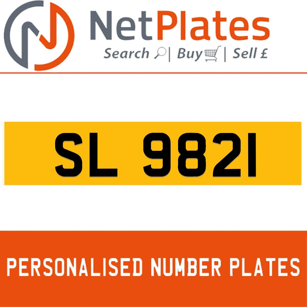 1900 SL 9821 PERSONALISED PRIVATE CHERISHED DVLA NUMBER PLATE For Sale (picture 1 of 5)