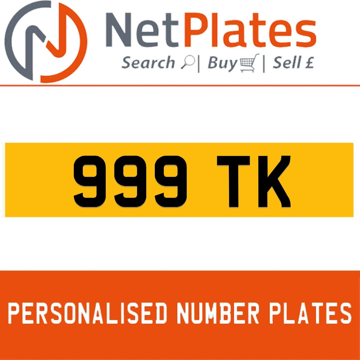 1900 999 TK PERSONALISED PRIVATE CHERISHED DVLA NUMBER PLATE For Sale (picture 1 of 5)