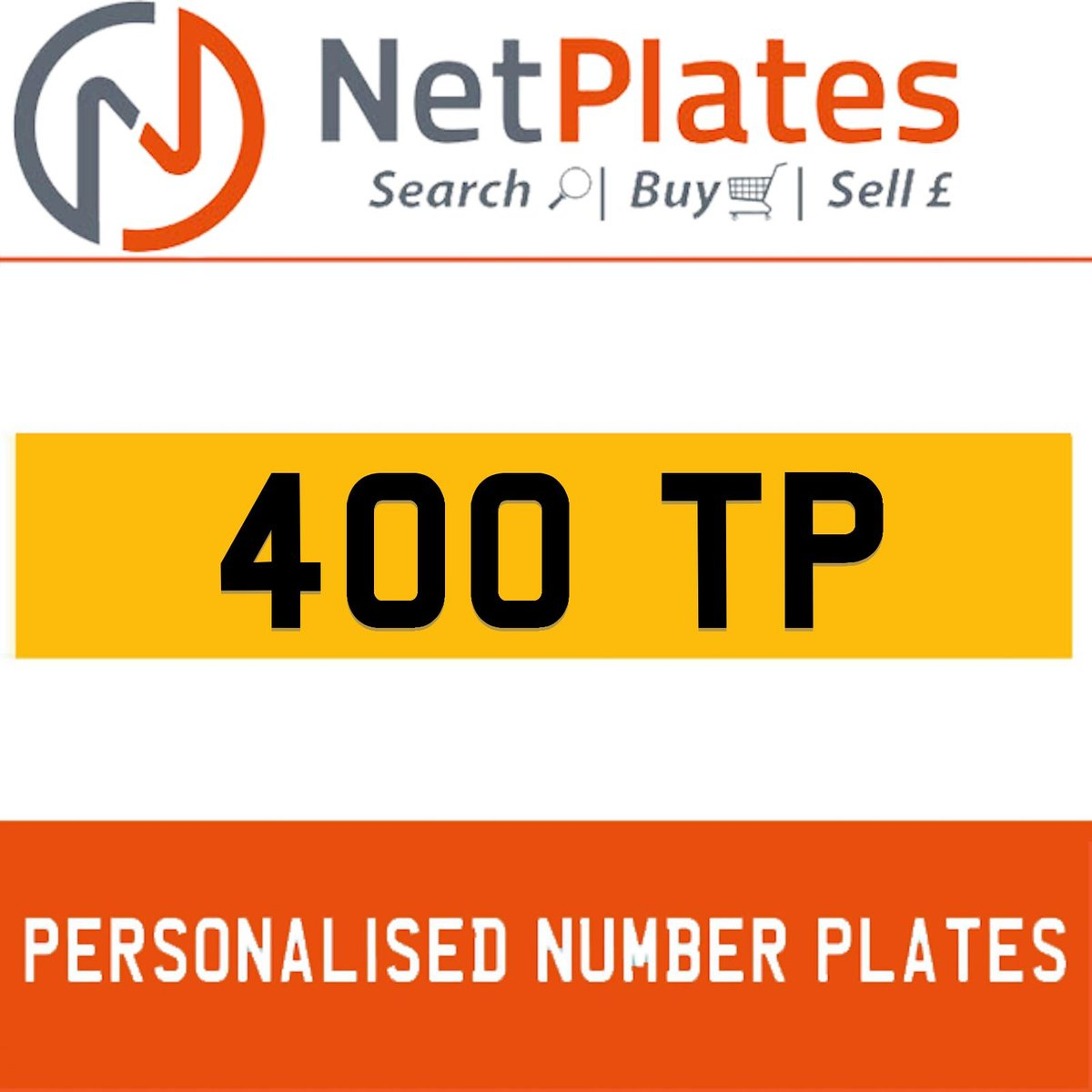 1900 400 TP PERSONALISED PRIVATE CHERISHED DVLA NUMBER PLATE For Sale (picture 1 of 5)